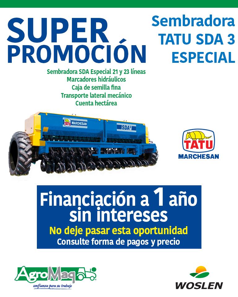 SUPER OPORTUNIDAD DE SEMBRADORAS TATU SDA 3 ESPECIAL
